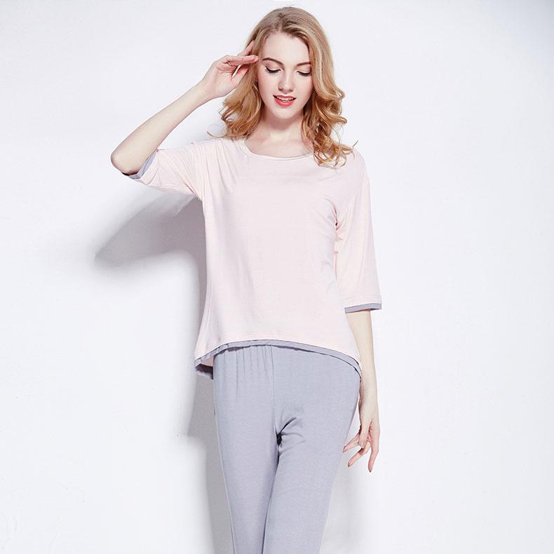 Get Quotations · 2015 nre arrival top quality elegant women pyjama sets  pink and grey color elegant pijamas softy 86790e8d8