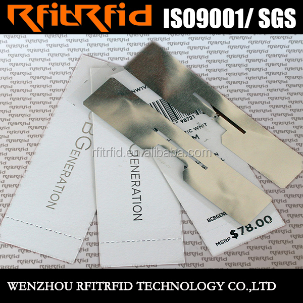 high quality 13.56mhz rfid tag, costomized clothing security tag remover