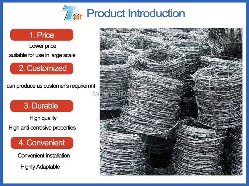 Hot Dip Galvanized Barbed Wire Price Per Roll Buy Hot
