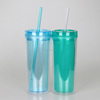 Made in China Mlife Clear 500ml AS plastic double wall Skinny Straw Tumbler Cup Mug Hot&Cold Acrylic Tumbler