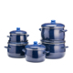 high quality blue hot enamel pot set ware casserole set
