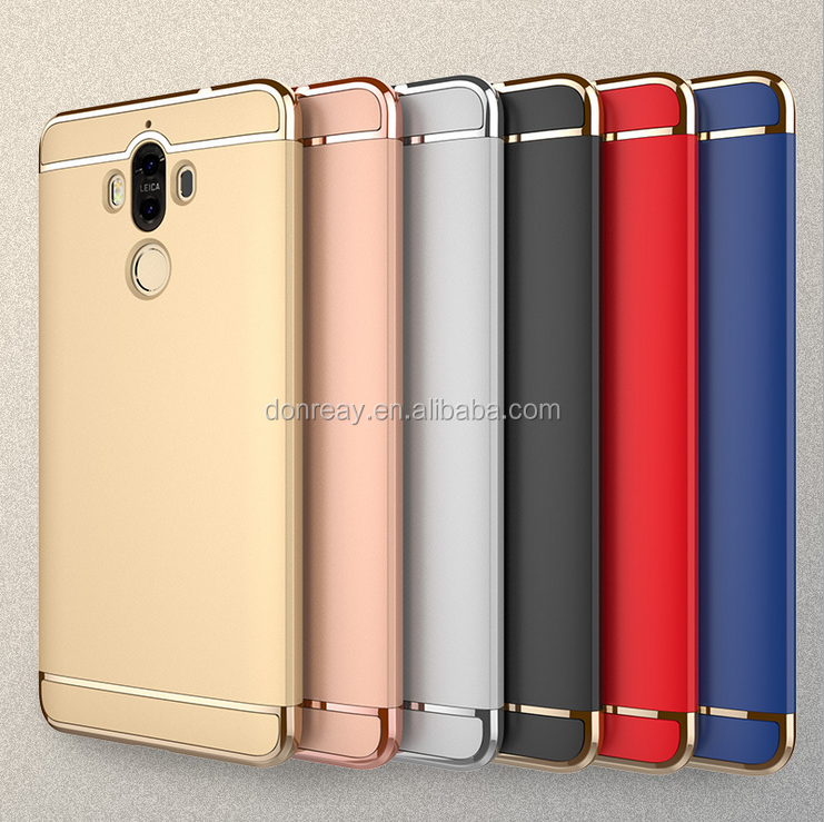 For HUA WEI MATE 9 3 In 1 Protect Case with Metal