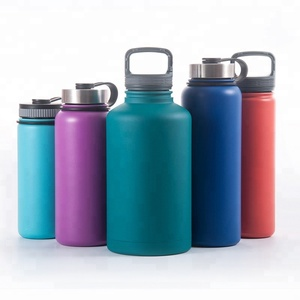 Stainless Steel Water Bottle, Double Walled, Leak Proof and Built-in Filter, Food Grade Wide Mouth Vacuum Flask for Travel
