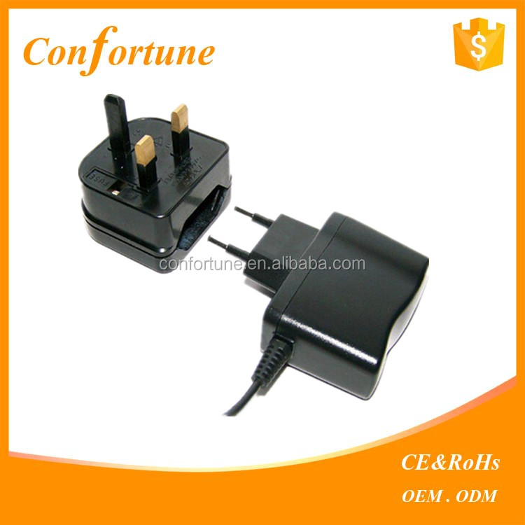 Hot selling alibaba 2 pin to 3 pin plug Euro to UK power plug converter with fuse CE