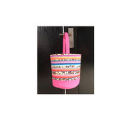 Wholesale Blanks Pink Serape Leopard Easter Baskets Colored Stripes Easter Buckets
