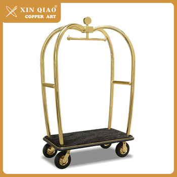China Suppliers Concierge Birdcage Trolley Luggage Cart For Hotel ...