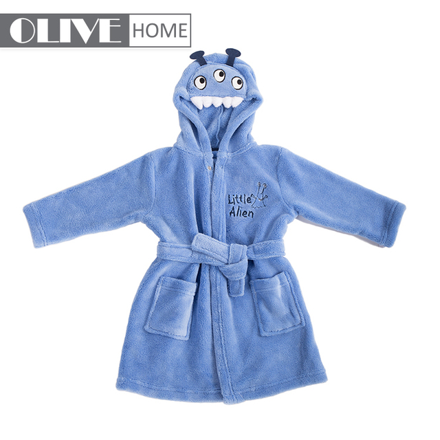 9c78babc0a 2018 hot selling coral fleece or cotton cute baby bathrobe for kids