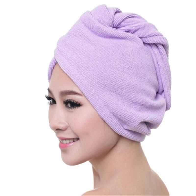 LATEST QUICK DRY MAGIC HAIR TURBAN TOWEL MICROFIBRE HAIR WRAP BATH TOWEL CAP HAT