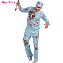 <span class=keywords><strong>Mannen</strong></span> Walking Dead Arts Zombie Bloedige Chirurg Kostuum <span class=keywords><strong>Carnaval</strong></span> Party Volwassen Mannelijke Fancy Outfits Scary Bone Halloween <span class=keywords><strong>Kostuums</strong></span>