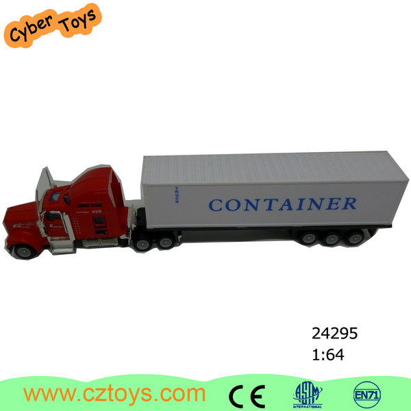 Factory price carry container truck, miniature shipping container scale model 1/48