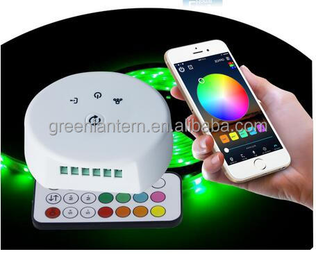 Hot selling! WiFi+RF wifi led rgbw rgb controller with 24key ir remote for led strip 5mm by SmartPhone