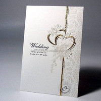 Wholesale custom wedding card design fancy wedding cards