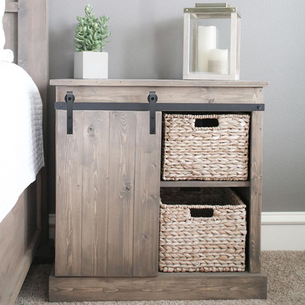 Mini Bent Sliding Barn Door Hardware Closet Cabinet