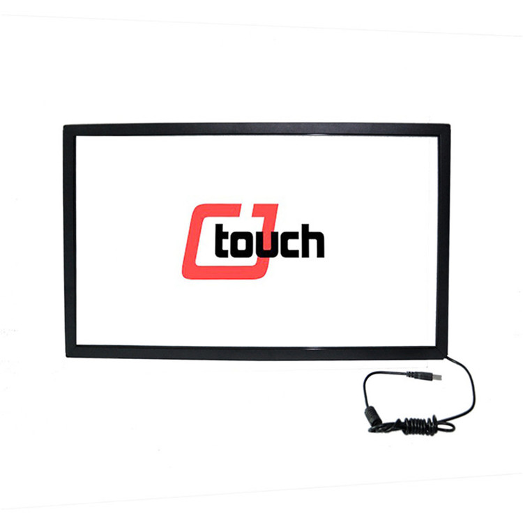 monitor vesa foil CJTOUCH high quality lcd capacitive IR multi touch screen overlay kit/multi touch screen frame oem touch