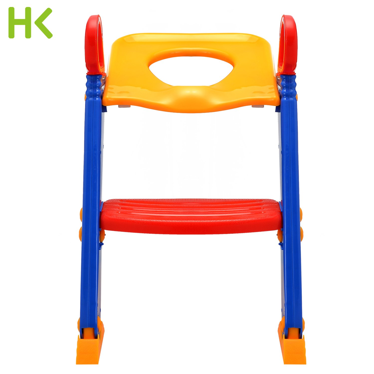 Joy Potty Training Seat Ladder Step Up Potty Seat Toilet Contoured Cushion Step Up Potty Trainer Toilet Training Step Stool for Kids and Toddlers Training Seat