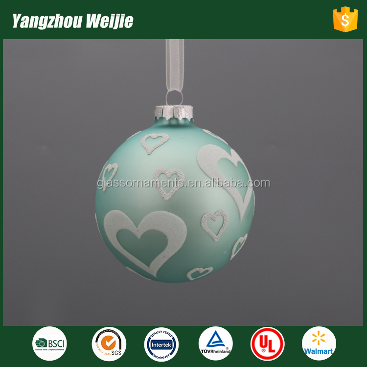 Best quality glass ball popular christmas decorations