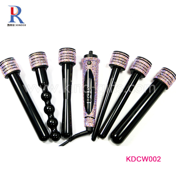 Hot Rhinestone Decoration Round Rotating Personalized Best Hair Curling Iron