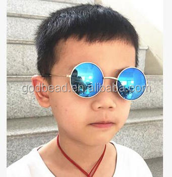 2cdbd4aa19d36 Vintage Round Sunglasses Kids Fashion Metal Gradient Retro Anti-UV Children  Sun Glasses for Boys