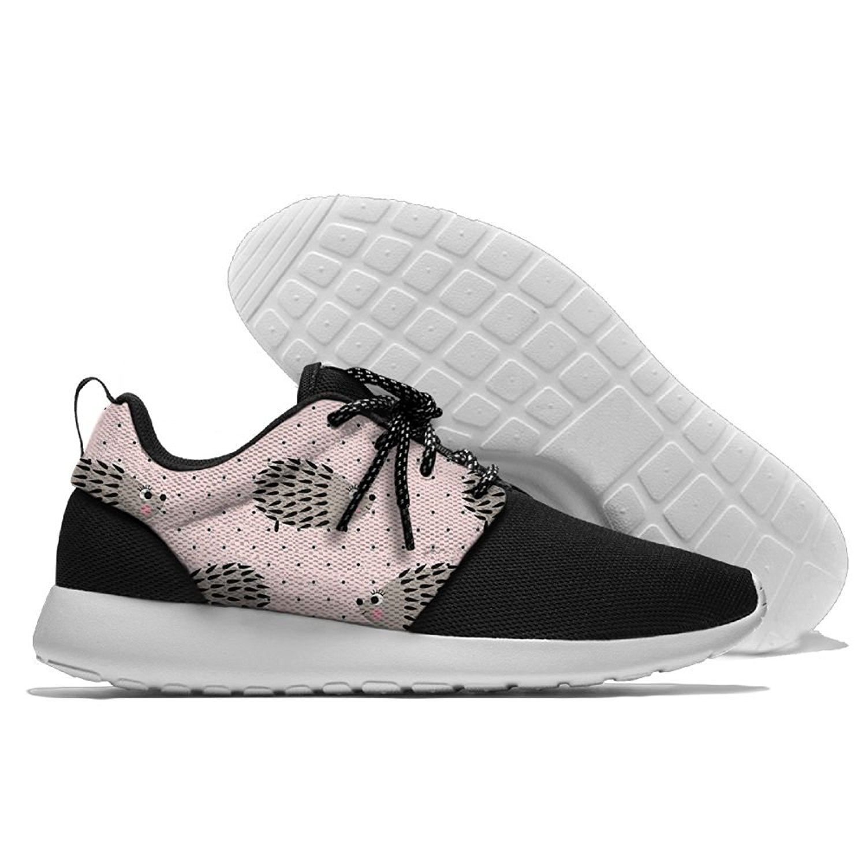 Men Women Gym Shoes Athletic Fabric Sneakers Cute Hedgehog Mesh Gym Shoes