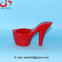 Unique design colourful ceramic high-heel shoe planters, nursery pots