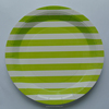 Party Tribes Hot Sale Free Sample/Light Green Candy Stripe Plates Small