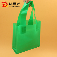 Valentine's day gift packaging loop handle plastic bag