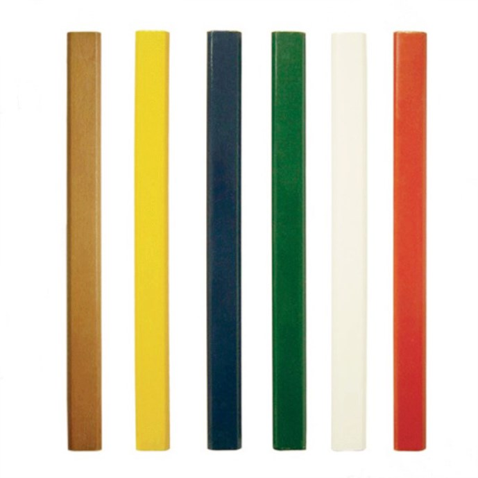 OEM Standard Promotional Builder Construction Round Oval Rectangle shape colorful wooden carpenter pencils