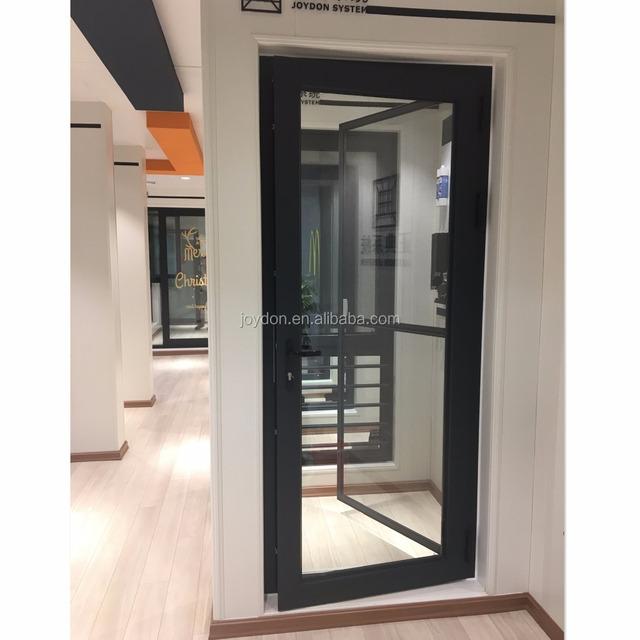 Aluminium Double Glazing Unbreakable Exterior Soundproof Glass Door