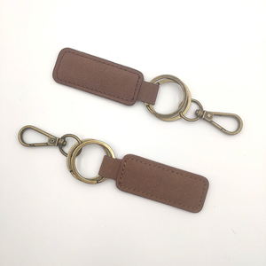 Wholesale Custom Logo Luxury Copper Plated Leather Keychain
