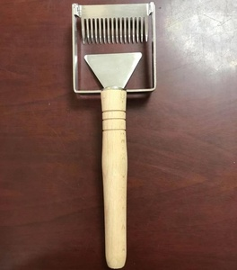 new design beekeeping hand tools stainless steel with wood handle uncapping fork scraper capping scratcher bee hive tools
