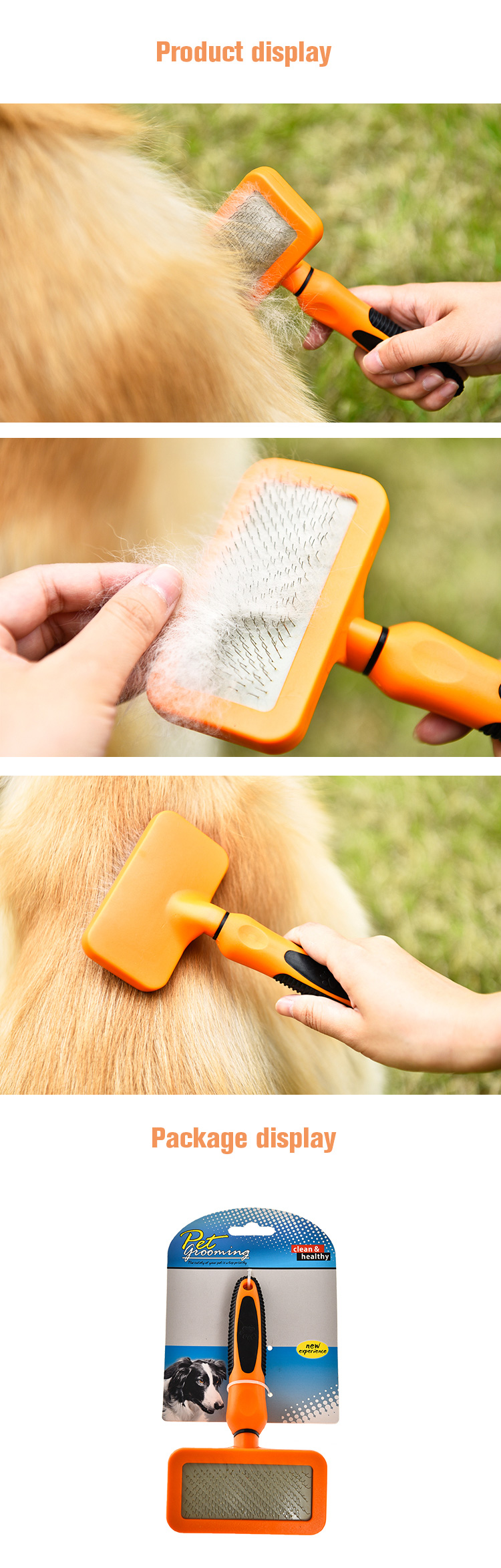 Tianyuan pet steel grooming brush comb,pet dematting comb