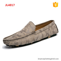 2017 Summer Men Driver Casual slip on Genuine Leather Loafers Shoes with Camo Color