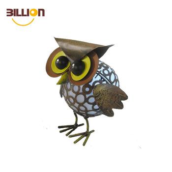 Solar Power LED Owl Light Garden Yard Decor Outdoor Statue Lamp Light