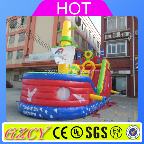 Pirate Ship Type inflatable colorful boat /adult and kids bumper boat
