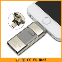 64GB 128GB USB 3 IN 1 Flash Drive for iPhone 6 6S Samsung Galaxy S6 S7 Edge