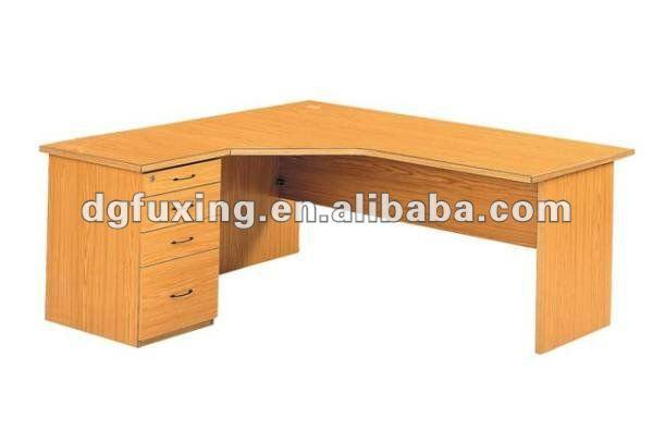 L forma de madera manager traje bien para la esquina for Mesa escritorio esquina