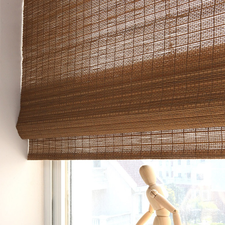 Natural roman roller blinds / bamboo curtains