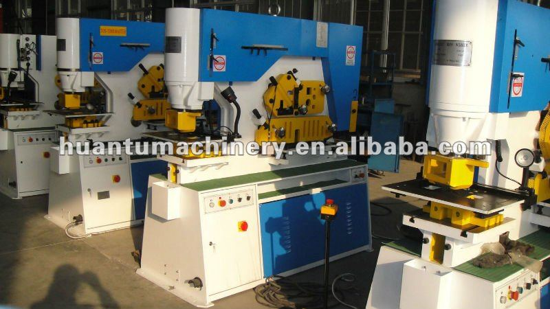 Hydraulic Section Iron Worker , C Beam Cutting Machine , Notching Machine