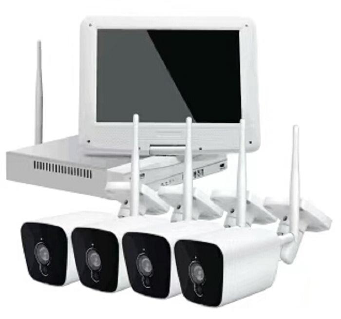 Siêu dễ dàng home hệ thống an ninh 4chs PLC (Dòng Điện Thông Tin Liên Lạc) WIFI 1.0/2.0 Megapixel NVR KITS