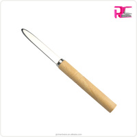 Promotional Seafood Tools Shellfish Clam Knife with Wooden Handle