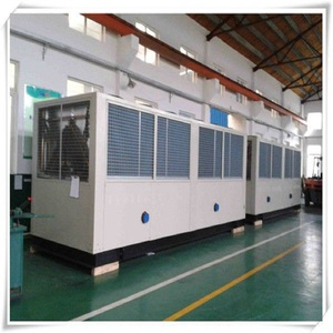 central air-conditioning used water cooled screw chiller