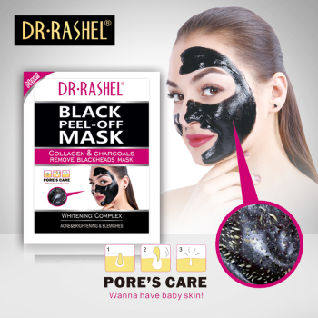 Dr.Rashel Black Peel Off sheet Mask Charcoal Blackhead Removal facial Mask 12g