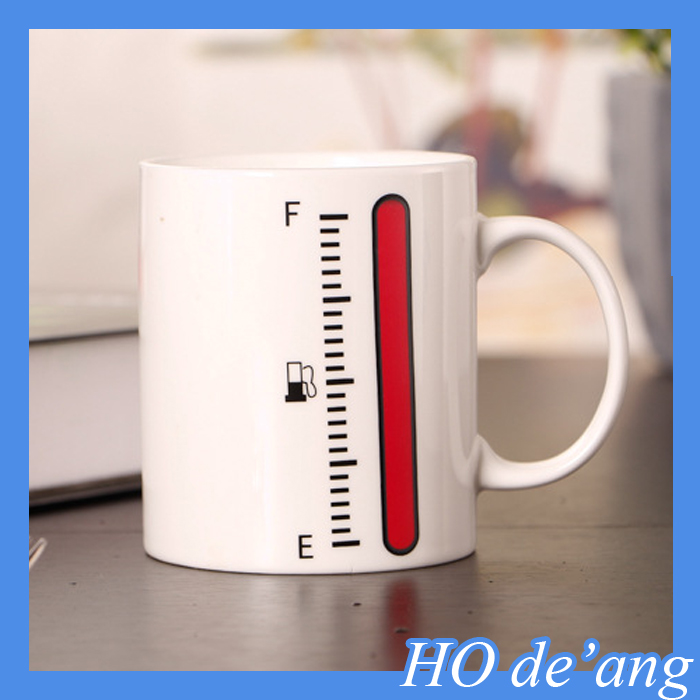 HOGIFT 2016 hot sell Heat Sensitive magic mug,thermometer color changing mug for promotion gift