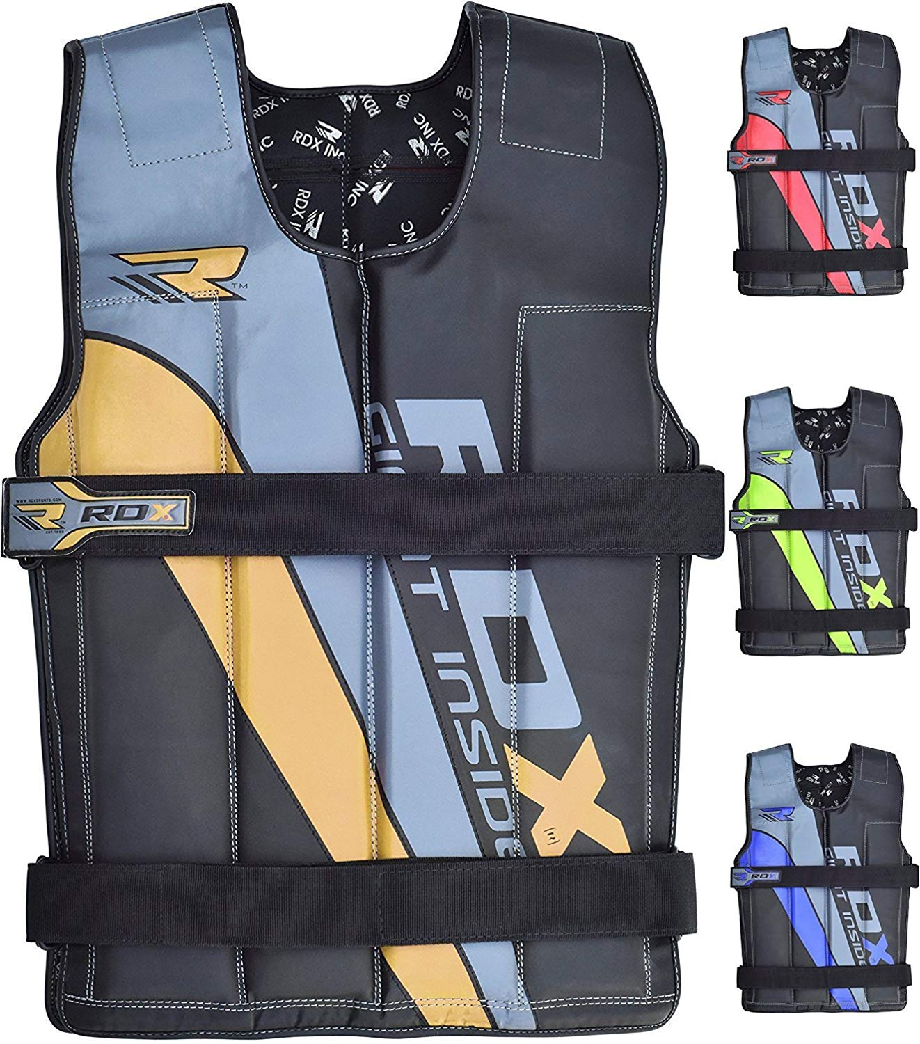 310d34e32c1 Get Quotations · RDX Adjustable Weighted Vest Crossfit Fitness 14KG 18KG Weight  Jacket Training Workout Excercise