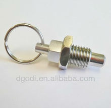 custom made zinc plated steel spring loaded pull pin