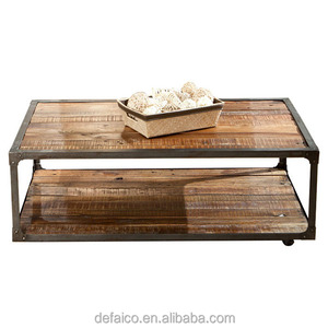 Industrial Country style Reclaimed Solid Wood Coffee Table