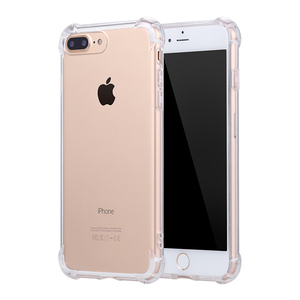 Factory direct sale transparent clear silicone cover case for iphone 7plus,soft silica tpu case ultra thin mobile phone