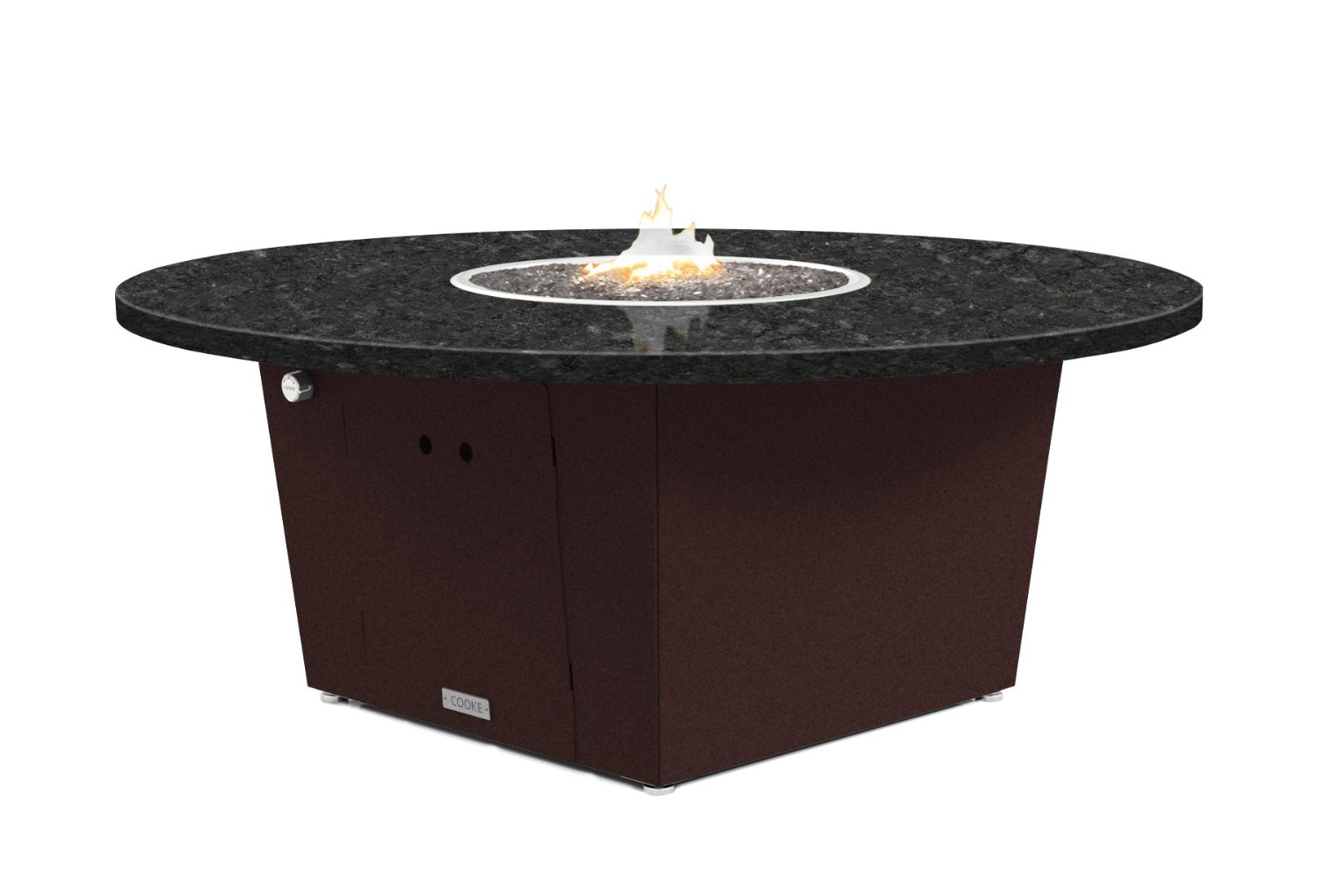 Buy Cooke Olympic Fire Pit Table 55 Round Chat Height Propane