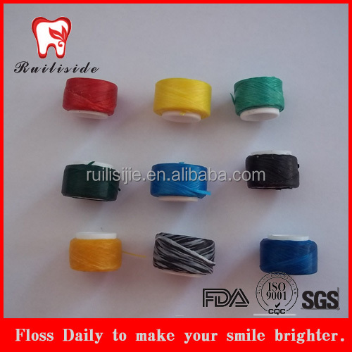 colorful dacron dental floss refill spool