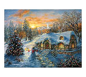 Christmas Cottage 500 pc Jigsaw Puzzle -Christmas theme- by SunsOut